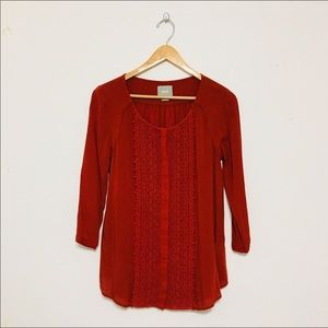 Maeve | Anthropologie Embroidered Lace Tunic